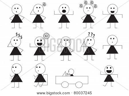 Woman Manner Sign Cartoon