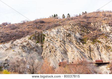 Nature Near Ski Resort, Tien Shan Mountains In Almaty, Kazakhstan,asia At Summer
