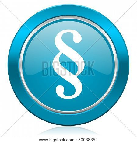 paragraph blue icon law sign