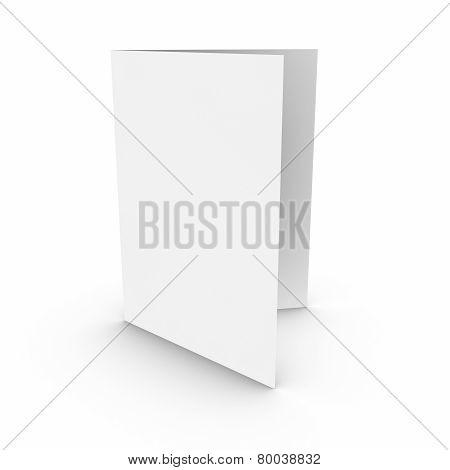 Empty Open Paper Brochure