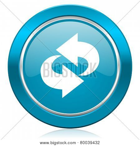 rotation blue icon refresh sign