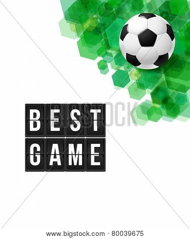 Abstract football soccer poster. Vector illustration.