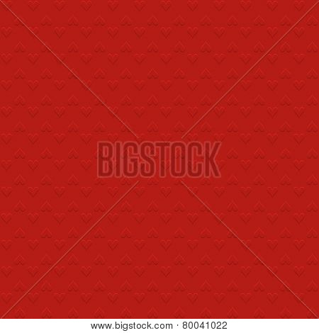 Valentines day background with embossed heart design