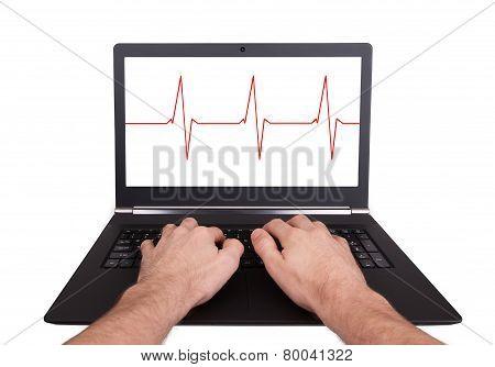 Man Working On Laptop, Heartbeat