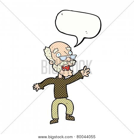 cartoon old man panicking