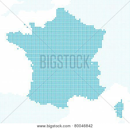 Pixels France map