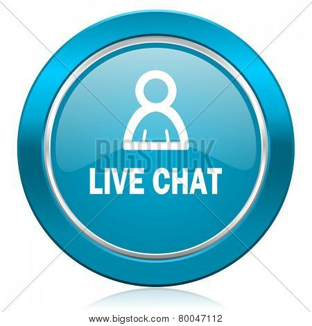 live chat blue icon