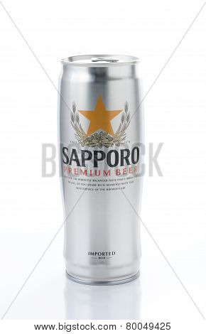 Sapporo Can On White