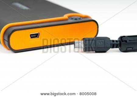 External device with mini-usb socket