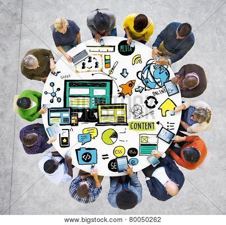 Diversity People Responsive Design Digital Communication Content Concept