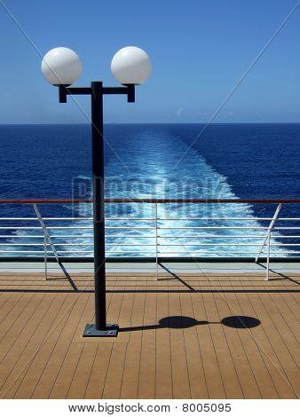 Passenger Cruise ship stern view