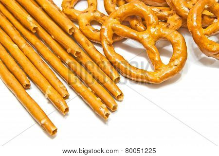 Breadsticks And Salted Pretzels