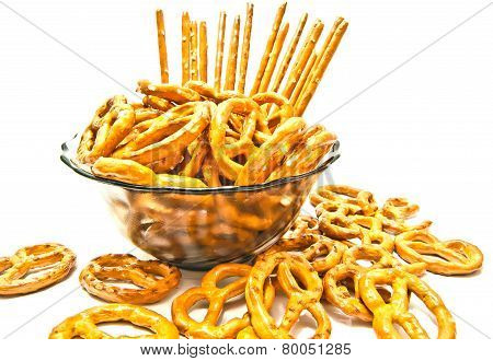 Many Pretzels And Breadsticks