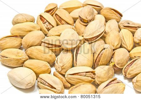 Heap Of Tasty Pistachios Closeup