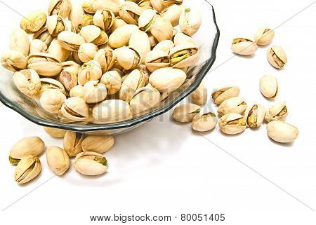Plate With Pistachios Closeup