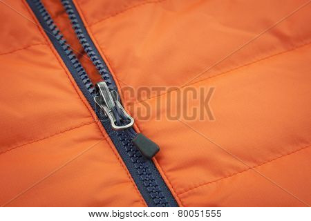 Orange waterproof canvas with zip lock background