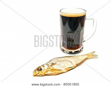 Glass Of Beer And Stockfish