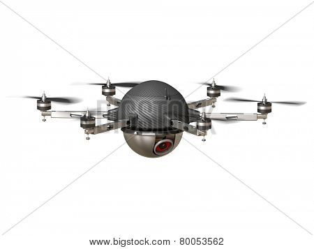3d image of futuristic spy camera drone