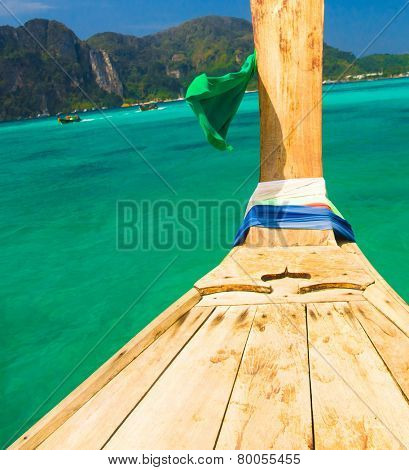 Asian Boat Lagoon Landscape