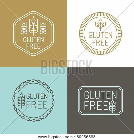 Vector Gluten Free Badges