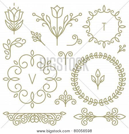 Vector Set Of Line Design Elements
