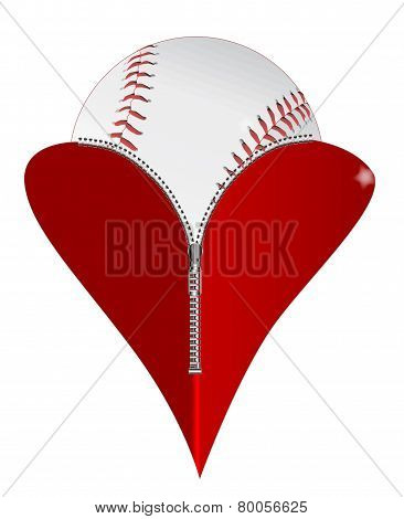 Love Baseball Icon
