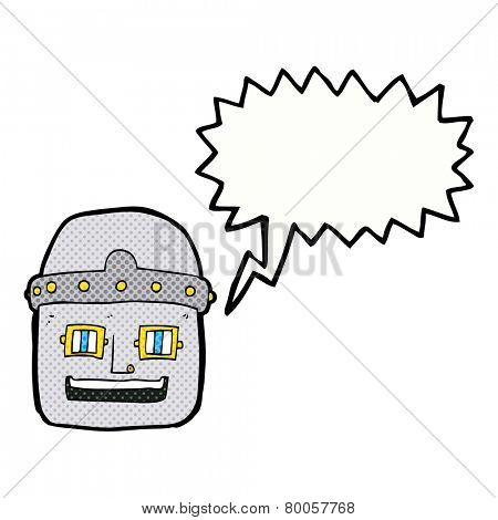 cartoon shouting robot head