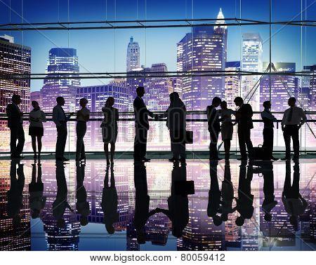 Diversity Business People Partnership Global Communication Concept