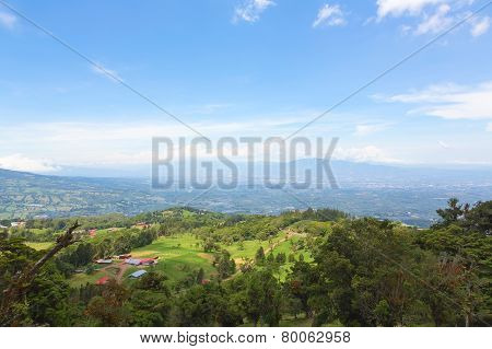 Hills and mountains in Costa Rica