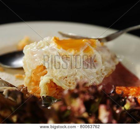 Sunny Side Up On Fried Rice