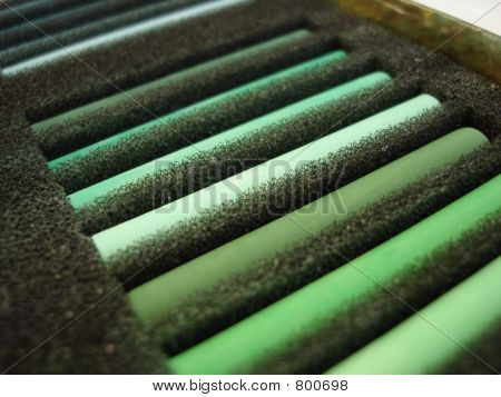 set of green pastila