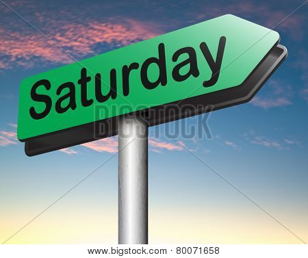 saturday next day schedule concept for appointment or event in agenda