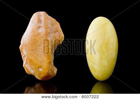Rough And Finished Sixty Million Year Old Baltic Butterscotch Amber
