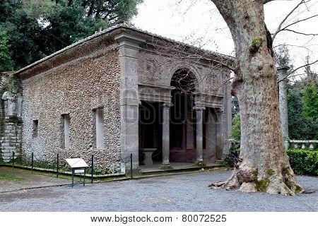 Antique Loggia At Villa Lante Italy