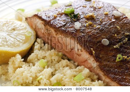 Moroccan Salmon With Cous Cous