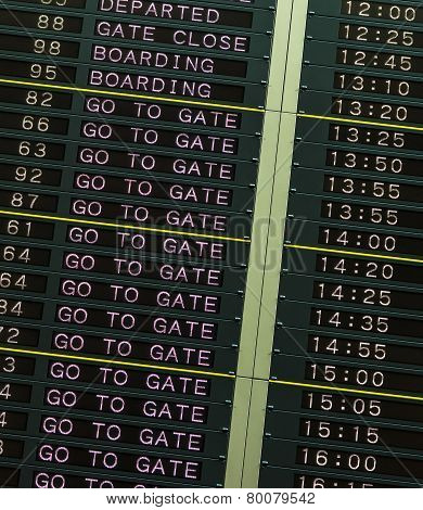 Departure Board In Airport