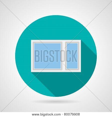 Simple window flat vector icon