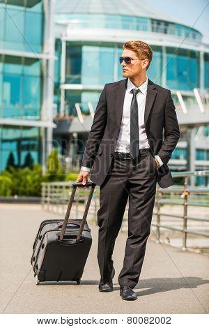 Businessman On The Go.