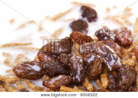 Cereales de salvado con pasas
