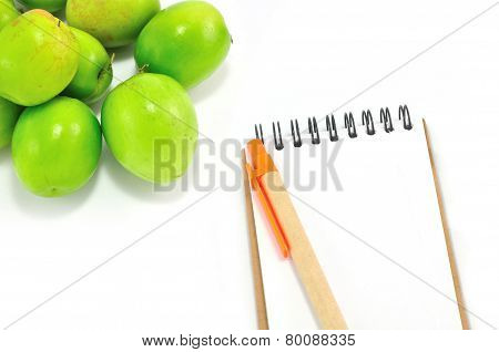 Notepad Isolated On White Background