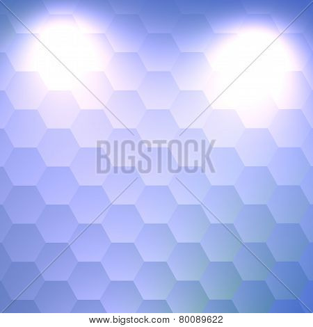 Large copy space white background. Electric lighting effect. Abstract modern blue design.
