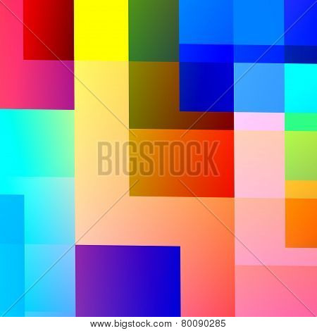 Abstract colorful geometric background design. Generative art. Palette pattern. Bright rainbow.