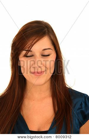 Gorgeous Woman - Eyes Closed