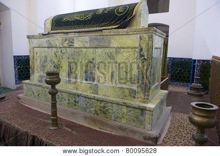 Tomb of Khoja Ahmed Yasavi in Turkistan, Kazakhstan.