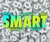 stock photo of objectives  - SMART goals or objectives with criteria such as Specific - JPG
