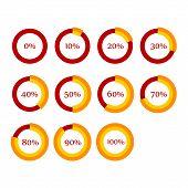 picture of fraction  - Percentage Diagram Presentation Design Elements - JPG