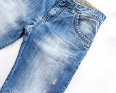 picture of indigo  - Jeans of indigo color on a show - JPG