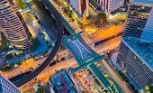 pic of kanto  - Aerial view of Bangkok central business center - JPG