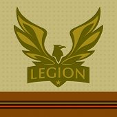 image of legion  - Vector logo with a picture of an eagle - JPG