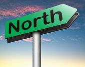 foto of north-pole  -  north geographical compass direction north pole   - JPG